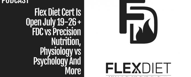 Flex Diet Cert is Open
